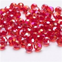 Mix pozycja czerwone czeskie szkło koraliki Facted do tworzenia biżuterii naszyjnik materiały DIY kryształki luzem koraliki hurt