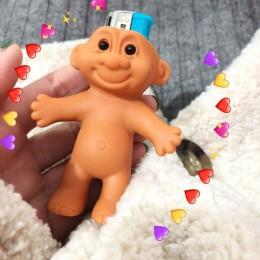 HZ 2019 śliczne silikonowe śliczne śmieszne gumowe nagie lalki 7cm etui na zapalniczkę Box lżejsze Protector nostalgiczne zabawk