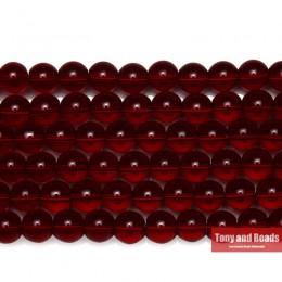 """Darmowa wysyłka naturalny gładki granat szkło kolorowe luźne koraliki 15 """"Strand 6 8 10 MM Pick rozmiar do tworzenia biżuterii"""