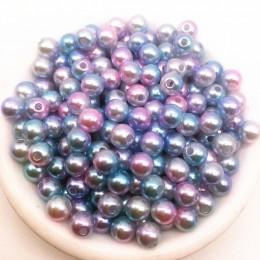 Hurtownie Dia 4/6/8/10mm 30-200 sztuk akrylowe okrągłe perły koraliki luźne perły koraliki na naszyjnik bransoletka DIY tworzeni