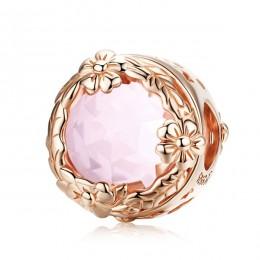 WOSTU 100% 925 Sterling Silver natura kryształowy blask szkło koraliki charm w stylu fit oryginalny DIY bransoletka wisiorek biż