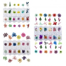 Prasowane suszone kwiaty suche rośliny do żywicy epoksydowej UV wisiorek z żywicy naszyjnik tworzenia biżuterii Craft DIY zdobie