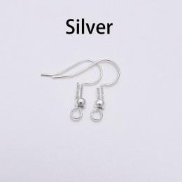 100 sztuk 20*17mm złoto srebro antyczny brąz ucha haki kolczyki klamrami ustalenia kolczyk przewody do tworzenia biżuterii dosta