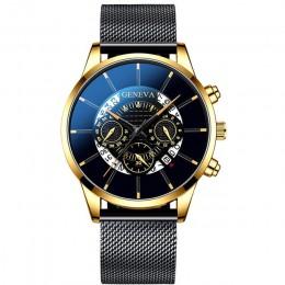 2020 Hollow mężczyzna zegarka mody ultra cienkie zegarki data mężczyźni biznes siatka ze stali nierdzewnej pas kwarcowy zegarek