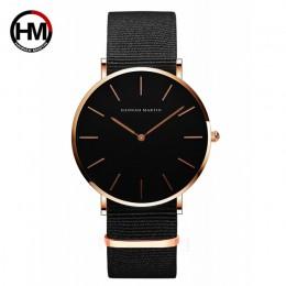 Dropshipping wysokiej jakości tarcza z różowego złota zegarek męski skórzany zegarek wodoodporny kobiety ubierają moda japonia m