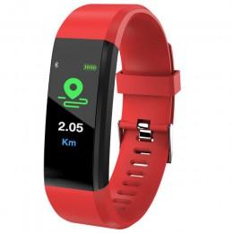 Nowy ID115 Plus sport zegarek Bluetooth wodoodporny pasek zadzwoń wiadomość z przypomnieniem tętno Fitness krokomierz mężczyzn i