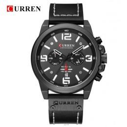 Nowy CURREN zegarki Top luksusowa marka wodoodporny Sport zegarek na rękę Chronograph zegarek kwarcowy skórzane wojskowe relógio