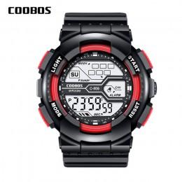 Trend męska cyfrowy zegarek sportowy wojskowy wodoodporny męskie zegarki LED zegarek luminescencyjny mężczyzna na co dzień gumow