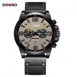 Top marka luksusowa moda skórzany pasek kwarcowy mężczyźni zegarki Casual data biznes mężczyzna zegarki na rękę zegar Montre Hom