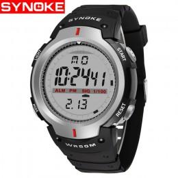 SYNOKE zegarki męskie 30M wodoodporny elektroniczny LED cyfrowy zegarek mężczyźni odkryty męskie sportowe zegarki na rękę stoper