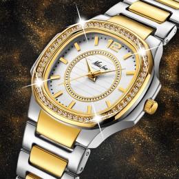 Zegarki damskie moda damska zegarek 2020 genewa projektant panie zegarek luksusowy markowy diament złoty zegarek kwarcowy prezen