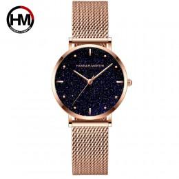 Zegarki damskie Top marka luksusowe japonia mechanizm kwarcowy ze stali nierdzewnej Sliver biała tarcza zegarki wodoodporne relo