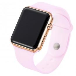 2020 nowy różowy Casual zegarki kobiety zegarek LED sportowy cyfrowy mężczyźni zegarek silikonowy kobiety zegarek Reloj Mujer Er