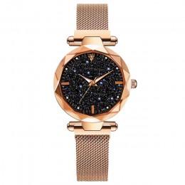 Luksusowe kobiety zegarki 2019 panie zegarek Starry Sky magnetyczny wodoodporny zegarek kobiet Luminous relogio feminino reloj m