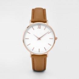 Zegarek Damski moda proste kobiety zegarki kobieta panie Casual skórzany Zegarek kwarcowy kobieta zegar Relogio Feminino Montre