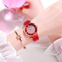 Kobiety zegarki 2019 luksusowe róża diamentowa złota panie zegarki magnetyczne kobiety bransoletka zegarek dla kobiet zegar Relo