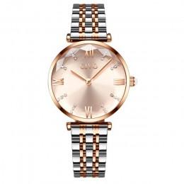 CIVO luksusowy kryształ zegarek kobiety wodoodporny stal z różowego złota pasek zegarki damskie Top marka zegarek z paskiem Relo