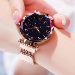 Reloj Mujer luksusowe Starry Sky kobiet zegarki Magnetic pas siatki paski do zegarków kobiet moda sukienka na rękę Zegarek Damsk