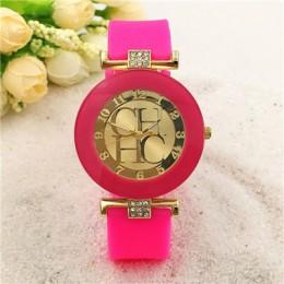 2018 nowy zwykłym skórzanym marki genewa zegarek kwarcowy na co dzień kobiety kryształ silikonowe zegarki Relogio Feminino Wrist