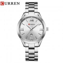 CURREN złoty zegarek damski zegarki damskie kreatywny stalowy damski bransoletki z zegarkiem kobieta zegar Relogio Feminino Mont