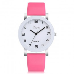 LVPAI zegarek damski moda prosty biały zegarek kwarcowy Sport skórzany pasek Casual Ladies zegarki kobiety Reloj Mujer Ff