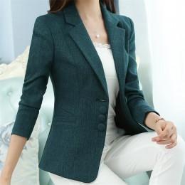 Nowa wysokiej jakości jesienno-zimowa damska marynarka elegancka moda damska marynarka marynarki garnitury kobiece duże S-5XL ko