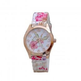 Kobiet zegarek 2019 silikonowy wydrukowano kwiat przyczynowe Quartz dziewczyny Sport Wrist zegarki luksusowe panie piękne relogi