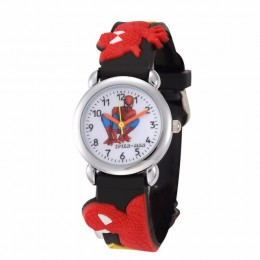 Spider-Man zegarki dla dzieci chłopiec i dziewczęta śliczny bajkowy zegarek miękkie silikonowe zegarki kwarcowe Sprots prezenty