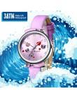 Zegarek dla dzieci KDM 2019 moda na co dzień uczeń dziewczyna zegarek chłopięcy Cute Cartoon Panda z prawdziwej skóry wodoodporn