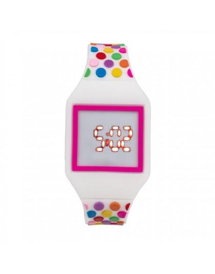 JOYROX zegarek led dzieci galaretki kolor cyfrowe dziecięce zegarki nowy ekran dotykowy gumowy zegarek dla dzieci dla chłopca dz