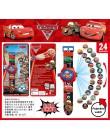 Zegarki dziecięce Cartoon Car 20/24 wzór projekcji cyfrowy zegarek dla chłopców dziewcząt LED dzieci zegar zabawki świąteczny pr