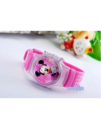 2015 nowych moda chłopcy dziewczęta silikonowy cyfrowy zegarek dla dzieci mickey minnie bajkowy zegarek dla dzieci boże narodzen