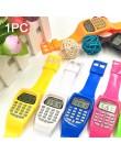 Egzamin zorientowane na rękę studenci kalkulator zegarek Mini wielofunkcyjny przenośny cyfrowy wyświetlacz data prezent elektron
