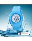 SKMEI dzieci wodoodporny zegarek chłopcy dziewczęta LED sportowe cyfrowe zegarki plastikowe dzieci Alarm data Casual Watch wybie