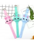 Zegarki dla dzieci dzieci Cute Rabbit Cartoon elektroniczny zegarek chłopcy i dziewczęta silikonowe zabawki zegarki prezenty Rel