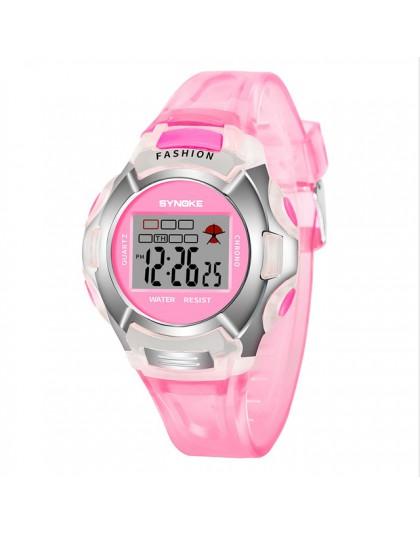 2019 SYNOKE marka dzieci chłopcy uczeń wodoodporny zegarek sportowy LED cyfrowy zegarek data wielofunkcyjne zegary mody nowy B30