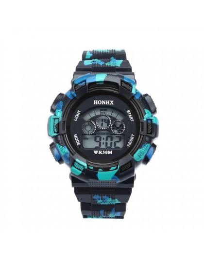 Wodoodporne LED cyfrowe zegarki sportowe dzieci chłopiec zegar Relogio wypoczynek mężczyzna dziecko Enfant Ceasuri wodoodporne w