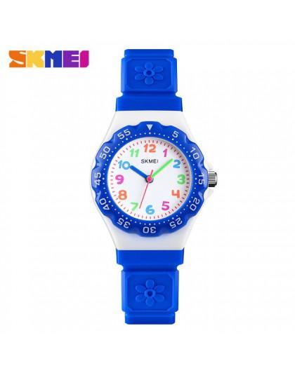 SKMEI nowe zegarki dla dzieci Outdoor Sports Wristwtatch chłopcy dziewczęta wodoodporne PU nadgarstek kwarcowe zegarki dla dziec