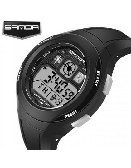 SANDA zegarki dziecięce śliczne zegarki dla dzieci sport bajkowy zegarek dla dziewczynek chłopcy gumowe dziecięce cyfrowe zegark