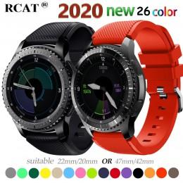 20 pasek do zegarka 22mm do Samsung Galaxy zegarek 46mm 42mm aktywny 2 biegów S3 Frontier pasek zegarek huawei GT 2 pasek amazfi
