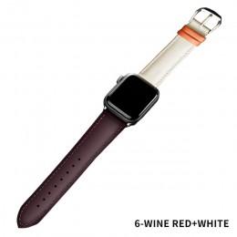 Brązowy pasek skórzany pasek pętli do zegarka Apple 4 3 2 1 38mm 40mm, skórzany zegarek męski pasek do zegarka iwatch 5 44mm 42m