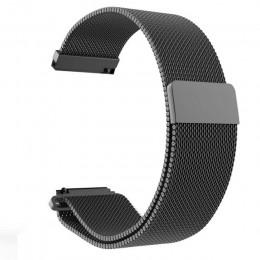 20mm 22mm szerokość pasek ze stali nierdzewnej do Samsung Galaxy Watch 42mm 46mm Milanese nadgarstek metalowy pasek magnetyczny