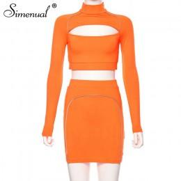 Simenual sportowy odblaskowy pasiasty pasujący zestaw kobiet wyciąć moda Fitness 2 częściowy strój z długim rękawem krótki Top i