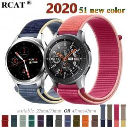 Gear s3 Frontier pasek do Samsung galaxy zegarek 46mm 42mm aktywny 2 nylon 22mm zegarek pasek huawei zegarek gt pasek amazfit bi