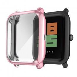 Ochraniacz ekranu szczupła kolorowa ramka obudowa tpu osłona ochronna dla Huami Amazfit Bip Younth zegarek z osłoną ekranu