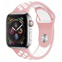 Opaska na zegarek Apple 5 4 3 2 40mm 44mm 42MM 38MM miękki oddychający pasek silikonowe opaski sportowe do serii Nike + Iwatch