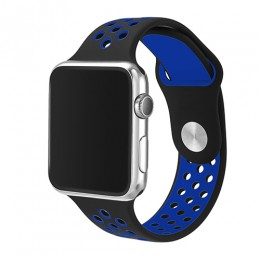 Nowa oddychająca silikonowa opaska sportowa do zegarka Apple 5 4 opaska 44MM 40MM gumka do paska Iwatch 3 2 1 38mm 42mm akcesori