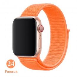 Utkany Nylon pasek na pasek do apple serii 5 watch band 44mm 40mm 42mm 38mm bransoletka sportowa inteligentny pasek do zegarka i