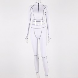 Simenual Fitness na co dzień odzież sportowa 2 sztuka zestaw kobiety sportowy treningu zamek bluzy z długim rękawem Top i leggin