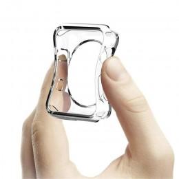 Pokrowiec na zegarek do zegarka Apple 5 4 40mm 44mm silikonowe etui na zarysowania do serii iWatch 3 2 42mm 38mm akcesoria
